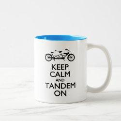 Two-Tone Mug with Keep Calm and Tandem On design