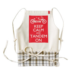 LIFE Line Apron with Keep Calm and Tandem On design