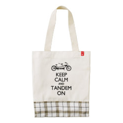 LIFE Line Tote Bag with Keep Calm and Tandem On design