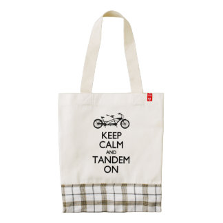 Keep Calm and Tandem On Zazzle HEART Tote Bag