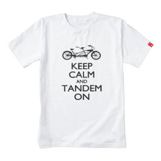 Keep Calm and Tandem On Zazzle HEART T-Shirt