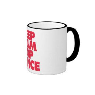Keep Calm and Tap Dance Ringer Mug