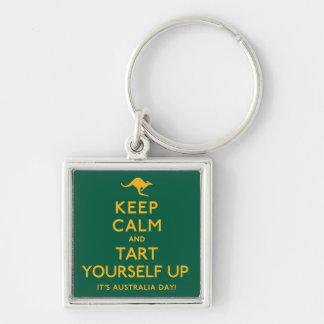 Keep Calm and Tart Yourself Up! Keychain
