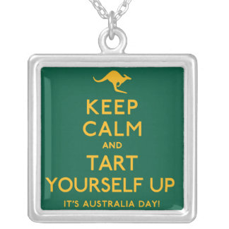 Keep Calm and Tart Yourself Up! Silver Plated Necklace
