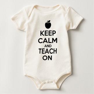 Keep Calm and Teach On Baby Creeper