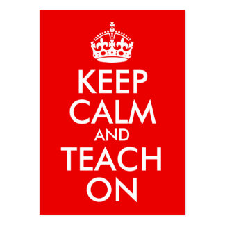 Keep Calm and Teach On Large Business Cards (Pack Of 100)