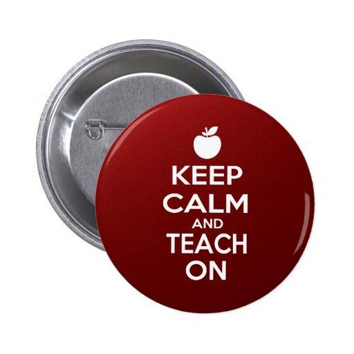Keep Calm and Teach On Button