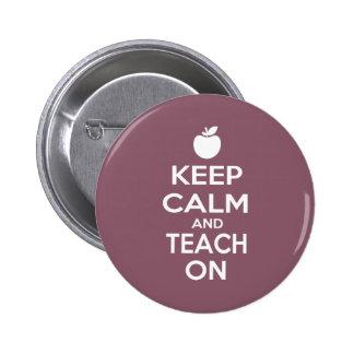 Keep Calm and Teach On Pins