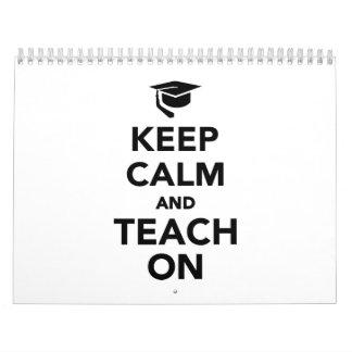 Keep calm and teach on calendar