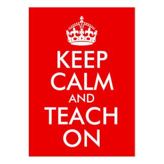 Keep Calm and Teach On Large Business Card