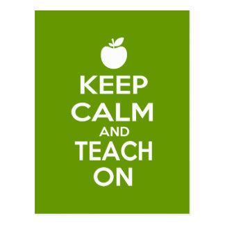 Keep Calm and Teach On Postcard