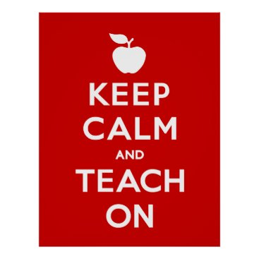 Art Themed Keep Calm and Teach On Poster