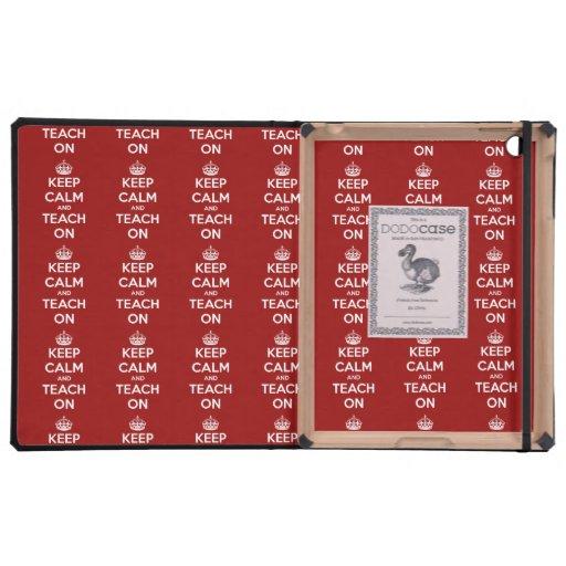 Keep Calm and Teach On Red DODOcase iPad Case