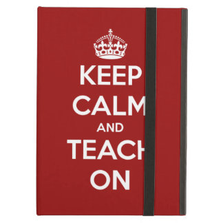 Keep Calm and Teach On Red iCase iPad Case