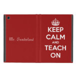 Keep Calm and Teach On Red Personalized Cover For iPad Mini