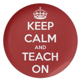 Keep Calm and Teach On Red Plates