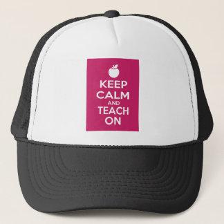 Keep Calm and Teach On Trucker Hat