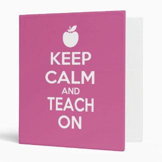 Keep Calm and Teach On Vinyl Binder