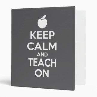 Keep Calm and Teach On Vinyl Binders