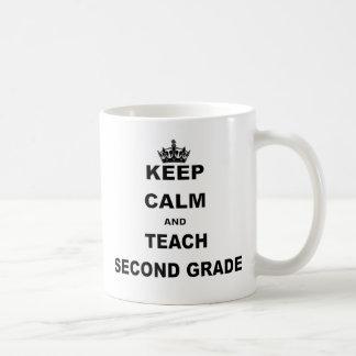 KEEP CALM AND TEACH SECOND GRADE COFFEE MUG