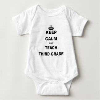 Keep Calm and Teach Seventh Grade Baby Bodysuit