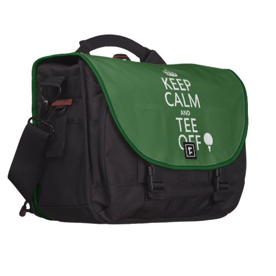 Keep Calm and Tee Off - Golf presents, all colors. Bag For Laptop