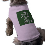 Keep Calm and Tee Off - Golf presents, all colors. Doggie Tshirt