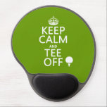 "Keep Calm and Tee Off - Golf presents, all colors. Gel Mouse Pad<br><div class=""desc"">This is the classic Keep Calm poster reworded to Keep Calm and Tee Off. There is a silhouette of a golf ball on a tee next to the letters. It&#39;s a popular beautiful design, popular with all golf lovers. Makes great gifts for golfers, coaches, and fans alike. If you want...</div>"
