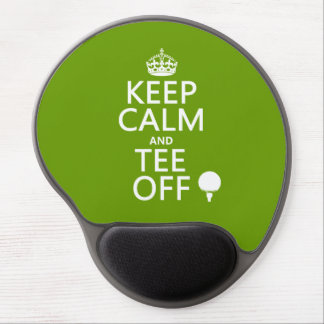 Keep Calm and Tee Off - Golf presents, all colors. Gel Mouse Pad