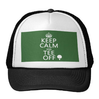 Keep Calm and Tee Off - Golf presents, all colors. Trucker Hats