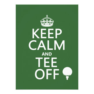 Keep Calm and Tee Off - Golf presents, all colors. Personalized Invitation