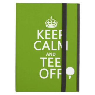 Keep Calm and Tee Off - Golf presents, all colors. iPad Folio Cases