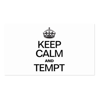 KEEP CALM AND TEMPT Double-Sided STANDARD BUSINESS CARDS (Pack OF 100)