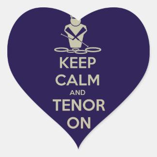 Keep Calm and Tenor On Heart Sticker