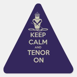 Keep Calm and Tenor On Triangle Sticker