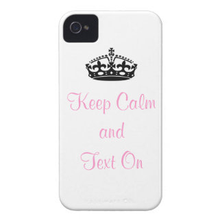 Keep Calm and Text On I-Phone 4/4S Case iPhone 4 Case-Mate Case