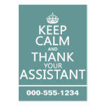 Keep Calm and Thank Your Assistant - in any color Large Business Cards (Pack Of 100)