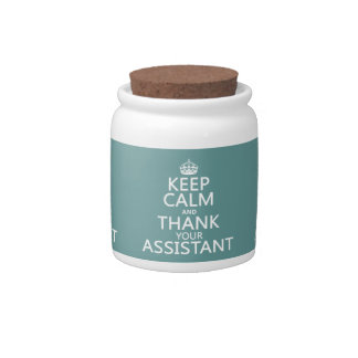 Keep Calm and Thank Your Assistant - in any color Candy Jar