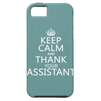 Keep Calm and Thank Your Assistant - in any color iPhone SE/5/5s Case