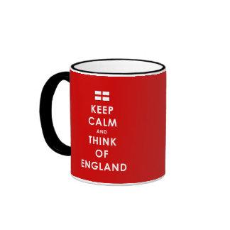 KEEP CALM AND THINK OF ENGLAND MUG