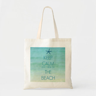 KEEP CALM AND THINK OF THE BEACH BAG