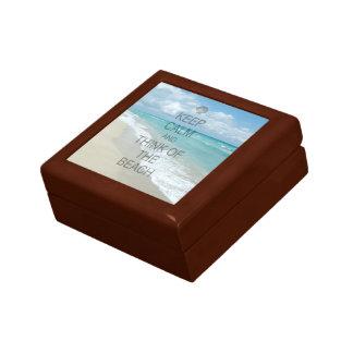 Keep Calm and Think of the Beach Keepsake Box