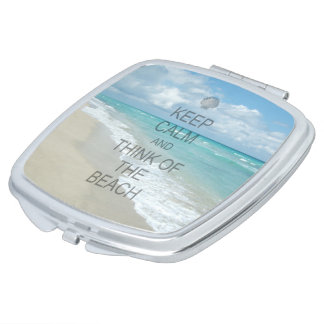 Keep Calm and Think of the Beach Makeup Mirror