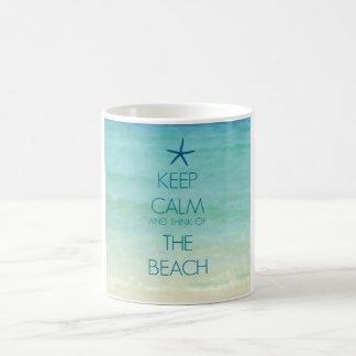 KEEP CALM AND THINK OF THE BEACH PHOTO MUG