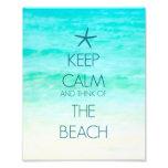 Keep Calm and Think of the Beach Photo Print