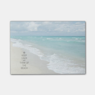 Keep Calm and Think of the Beach Post-it Notes