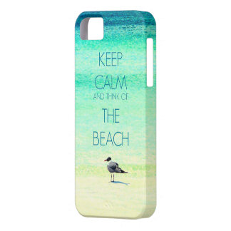 Keep Calm and Think of the Beach with Seagull iPhone SE/5/5s Case