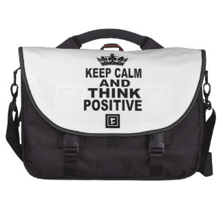 Keep Calm And Think Positive Laptop Bag
