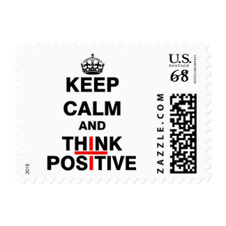 Keep Calm and Think Positive Postage