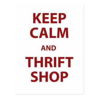 Keep Calm and Thrift Shop Postcard
